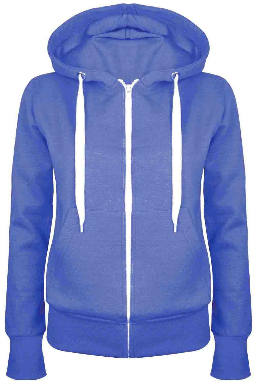 Ladies-Plain-Zip-Up-Fleece-Hoody-Women-Sweatshirt-Coat-Jacket-Top-Hoodies-6-24