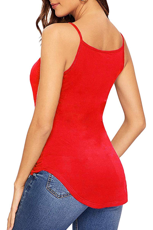 Senoras-para-mujer-normal-Camisola-Con-Correas-Sin-Mangas-Dobladillo-Curvo-Tanque-camiseta-Chaleco miniatura 7