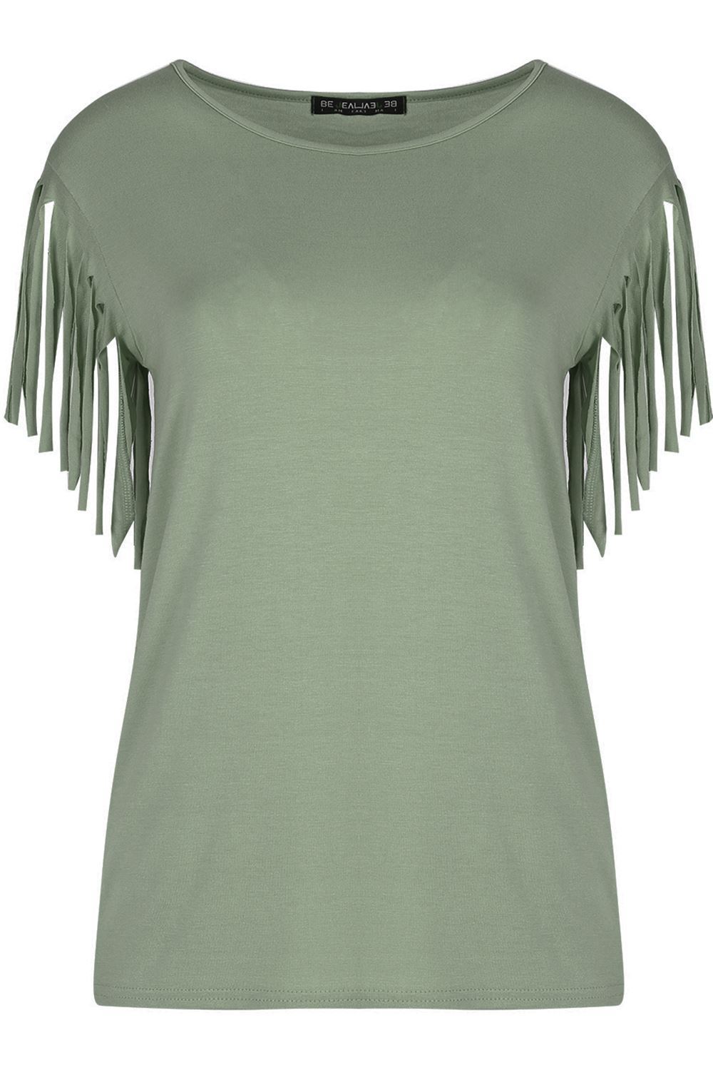 Womens ladies fringe summer loose short sleeve blouse for Best t shirts for summer