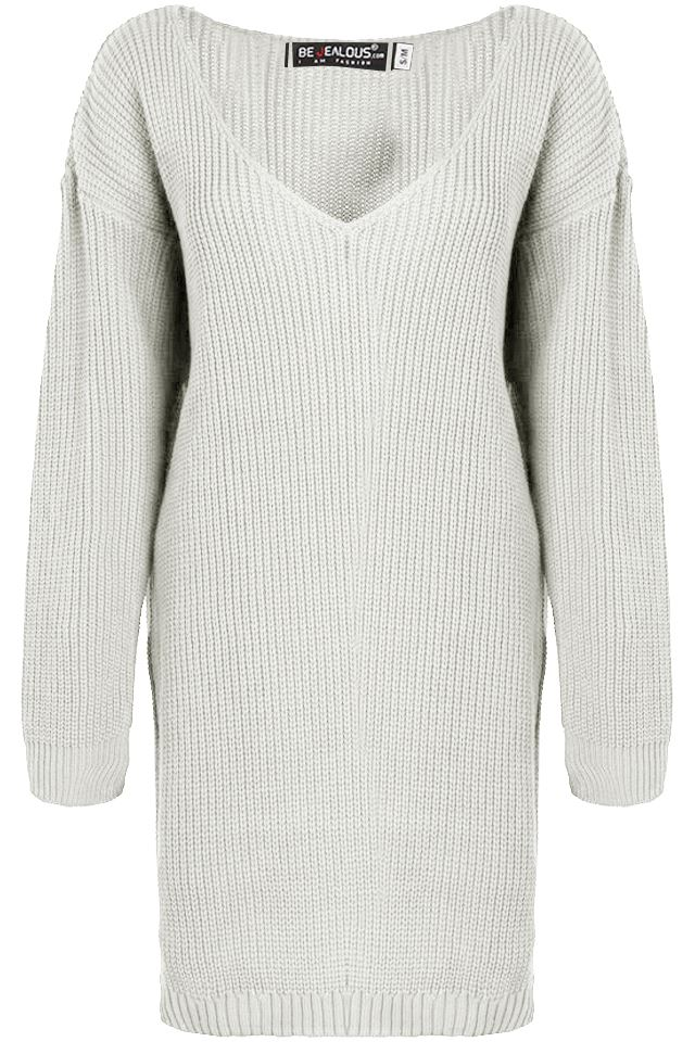 Womens-Oversized-Jumper-Ladies-Dress-Long-Sleeve-Chunky-Knitted-Long-Sweater-Top thumbnail 56