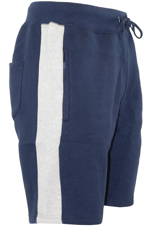 Mens-Contrast-Panel-Running-Summer-Side-Slit-Knee-Length-Fleece-Bottoms-Shorts thumbnail 35