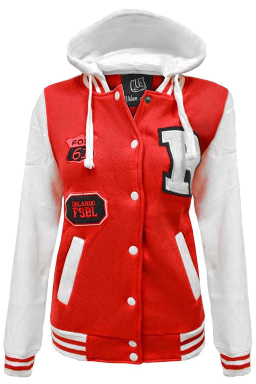 Varsity jacket with hoodie