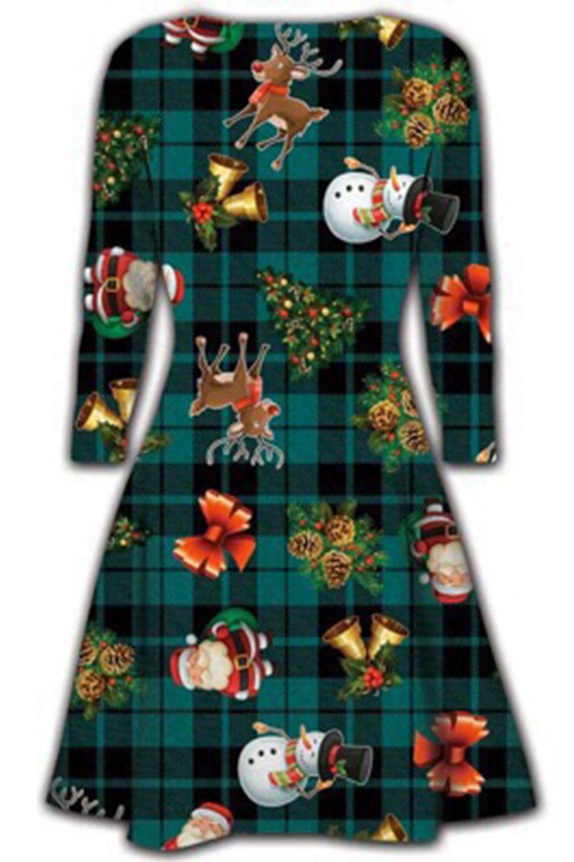 Women-Ladies-Kids-Girls-Xmas-Santa-Gifts-Christmas-Print-Skater-Mini-Swing-Dress thumbnail 36