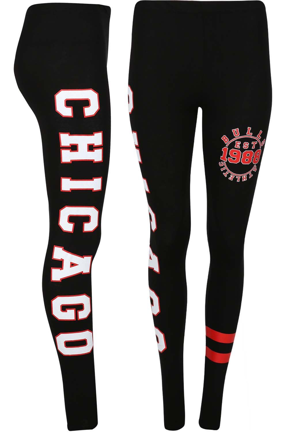 Signore-Donne-Chicago-Brooklyn-76-Skinny-Jegging-Da-Palestra-Yoga-Corsa-Sport-Leggings