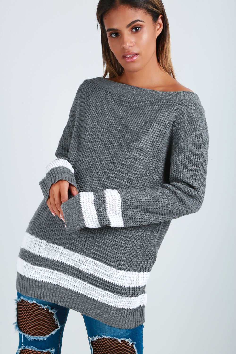 Womens-Oversized-Jumper-Ladies-Dress-Long-Sleeve-Chunky-Knitted-Long-Sweater-Top thumbnail 23