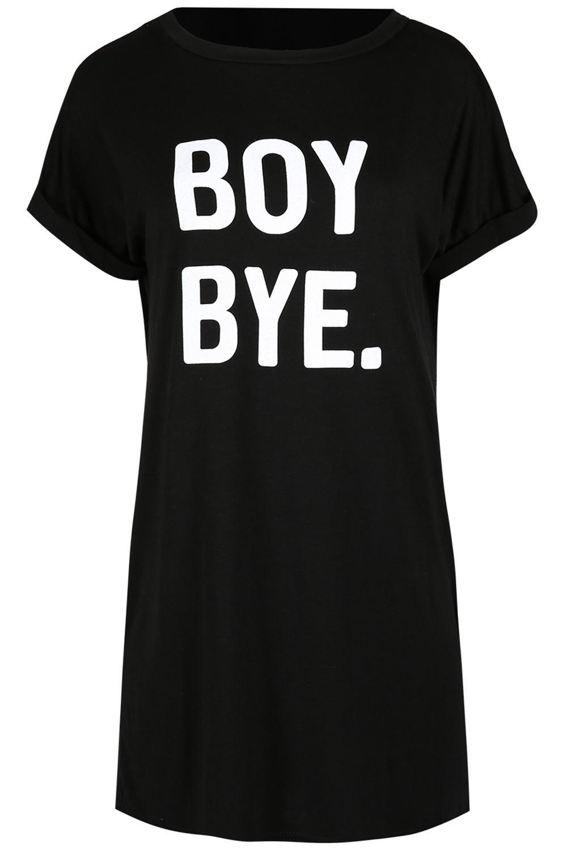 Black t shirt dress ebay - Womens Ladies Boy Bye Turn Up Sleeve Baggy