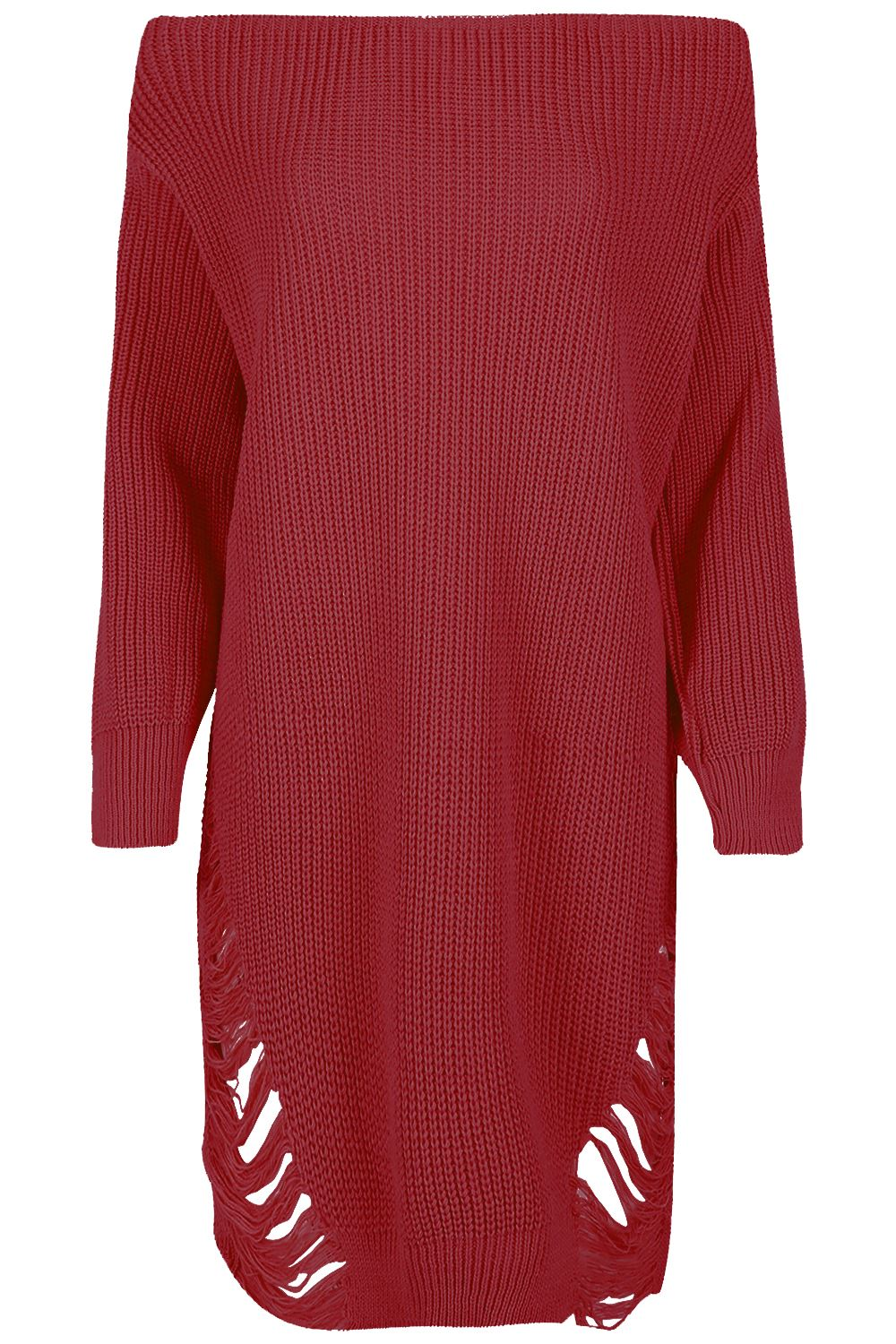 Womens-Oversized-Jumper-Ladies-Dress-Long-Sleeve-Chunky-Knitted-Long-Sweater-Top thumbnail 24