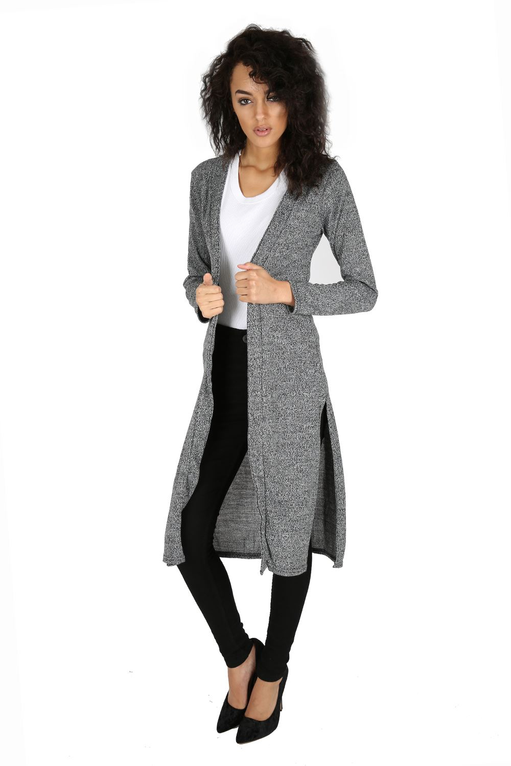 LADIES LONG SLEEVE BOYFRIEND CARDIGAN WITH 2 POCKETS SIZE 6-18