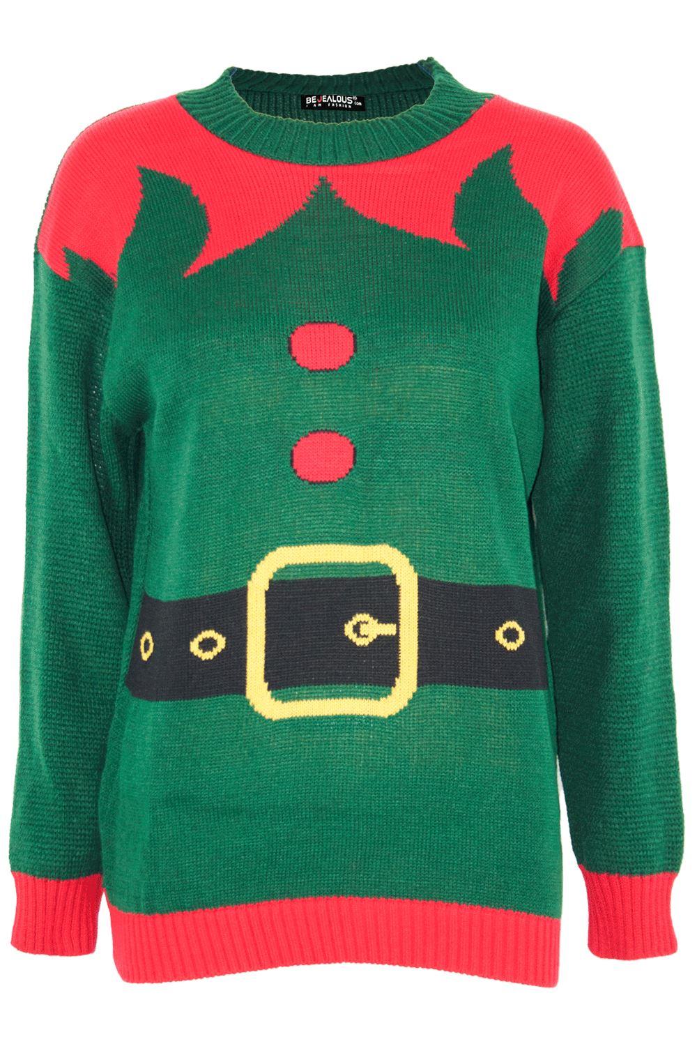 Womens Unisex Mens Christmas Santa Candy Knitted Sweater Compass Print Jumper