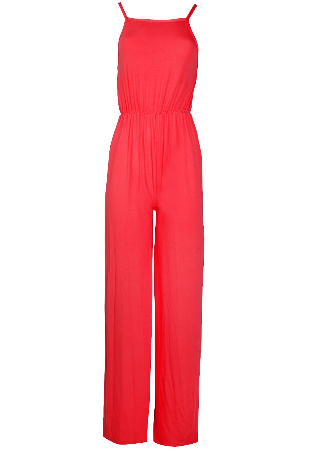 8d14571b967 Womens Ladies All In One Cami Wide Leg Palazzo Playsuit Jumpsuit ...