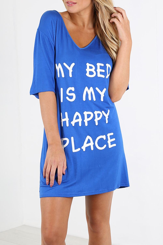Ladies T Shirt Women Longline Nightie Oversized Top Baggy Tunic Night Mini Dress
