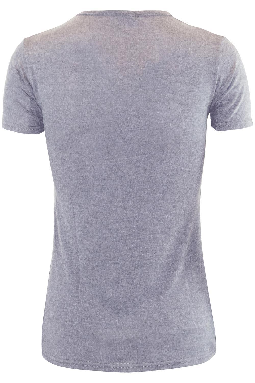 Débardeur Femme Uni Col V à manches courtes Casual Basic Oversize Tee T-shirt Top