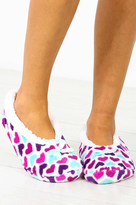 Para Mujeres Damas Piel Sintética Cómodos Pantuflas Sandalia Interior Mulas Zapatos Calcetines Antideslizante