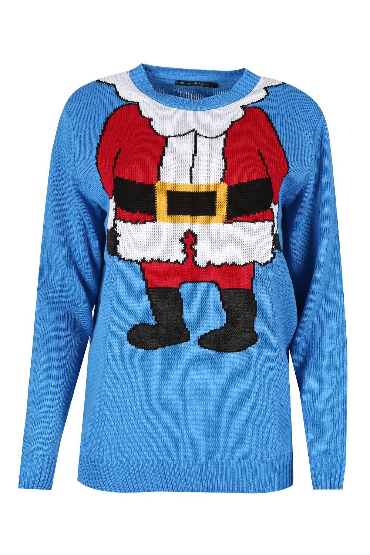Womens Ladies Xmas Elf Costume Christmas Knit Jumper Mini