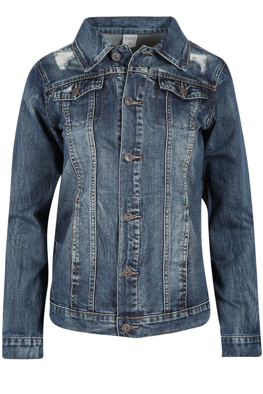 Womens-Ladies-Pockets-Slim-Denim-Jean-Buttons-Down-Coat-Crop-Jacket-Top-Outwear 縮圖 16