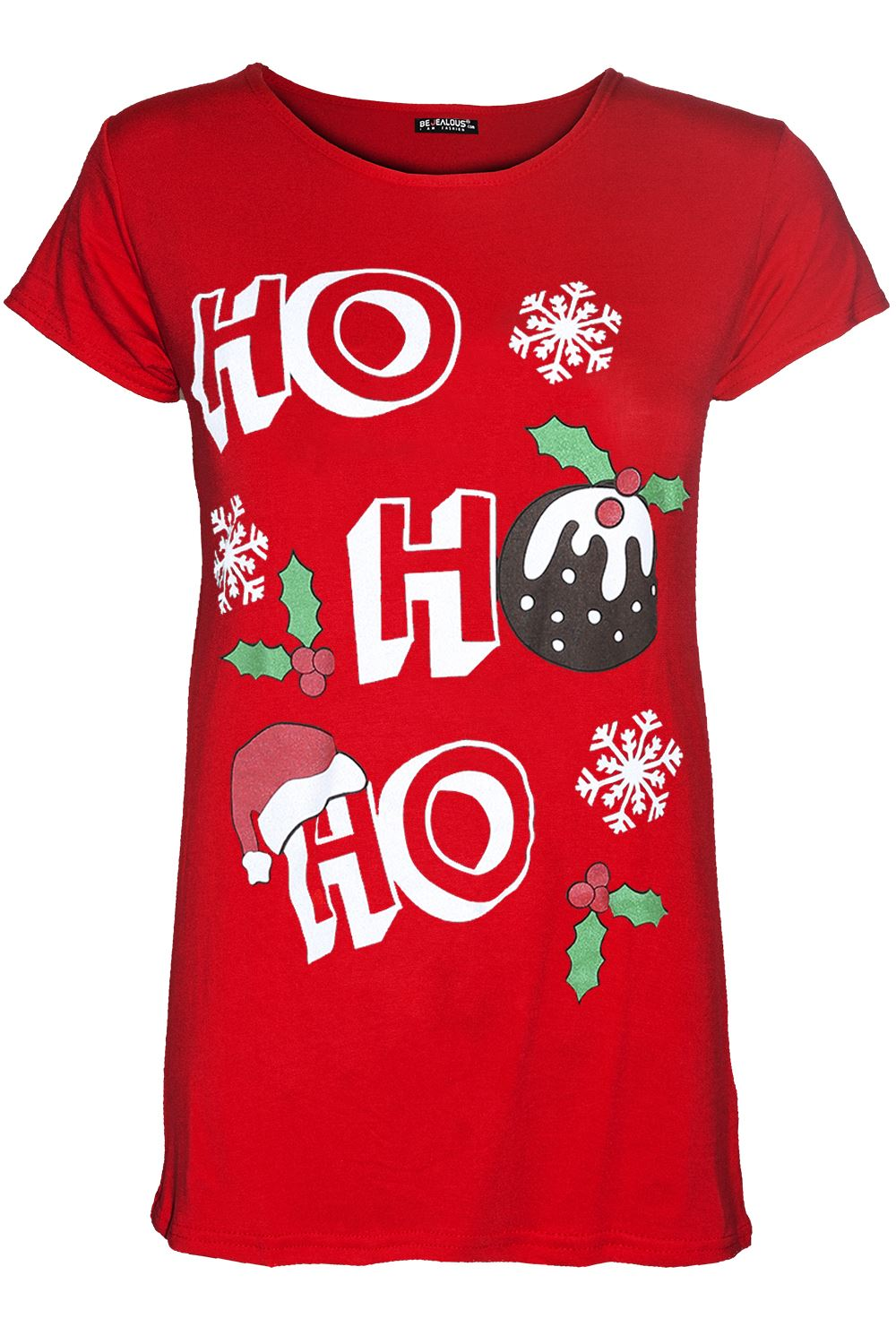 thumbnail 36 - Womens-Christmas-Xmas-Pullover-Elf-Candystick-Snowflakes-Ladies-T-Shirt-Tee-Top