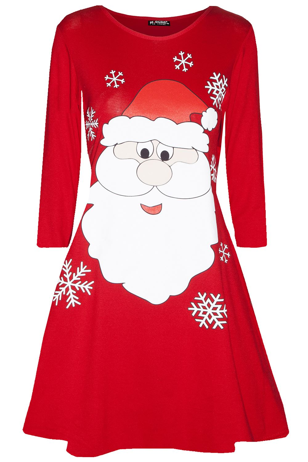 Womens-Ladies-Kids-Girls-Christmas-Xmas-Santa-Reindeer-Flared-Swing-Mini-Dress thumbnail 31