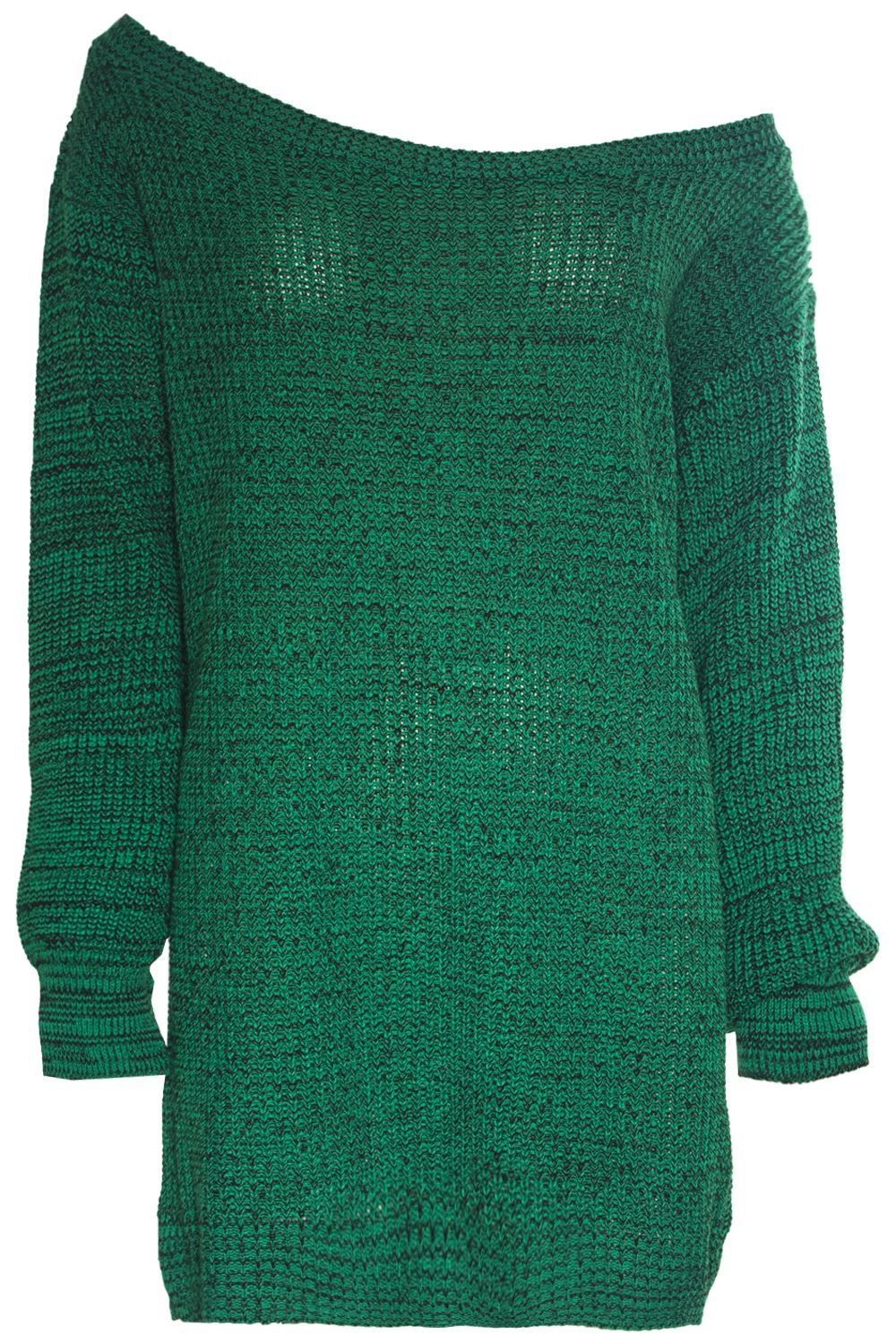 01e88b72c00cf Ladies Womens Off Shoulder Chunky Knit Oversized Baggy Tunic Jumper ...
