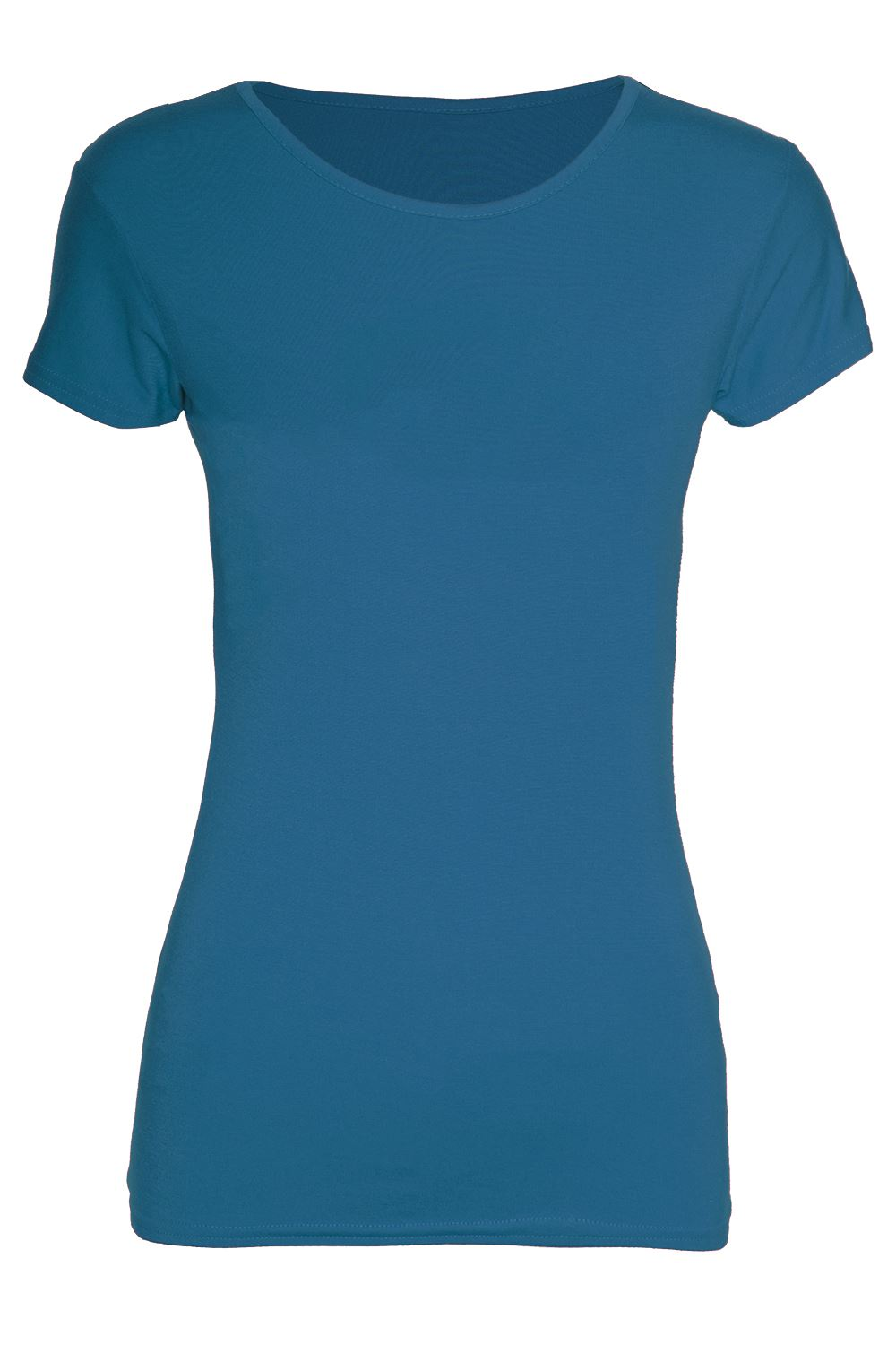 Womens-Short-Sleeves-Top-Ladies-Basic-Jersey-Cotton-Tunic-Vest-Tee-T-Shirt