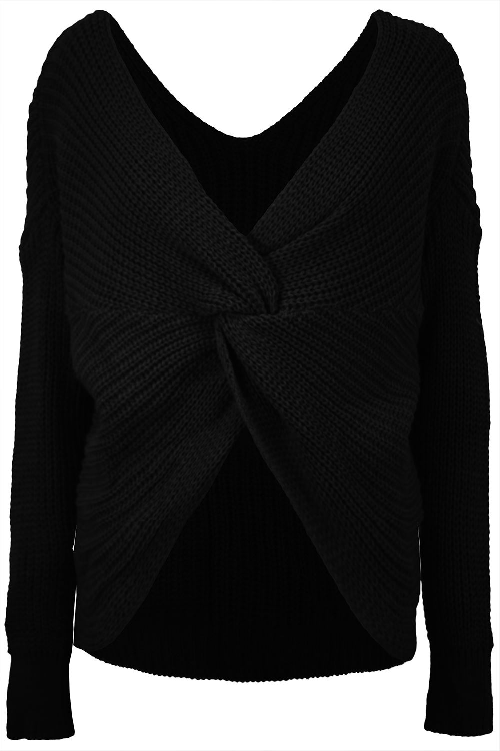 Womens-Ladies-Twisted-Knot-Front-Slouch-Fit-Bubble-Sleeve-Baggy-Oversized-Jumper thumbnail 10