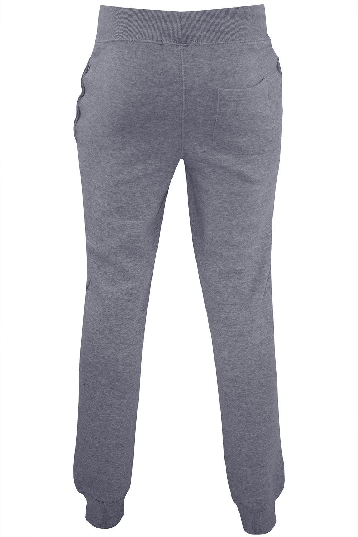 Polar-Para-hombre-Cintura-Elastica-Slim-Fit-Pantalones-De-Chandal-Jog-Pista-Pantalon-gymming miniatura 5