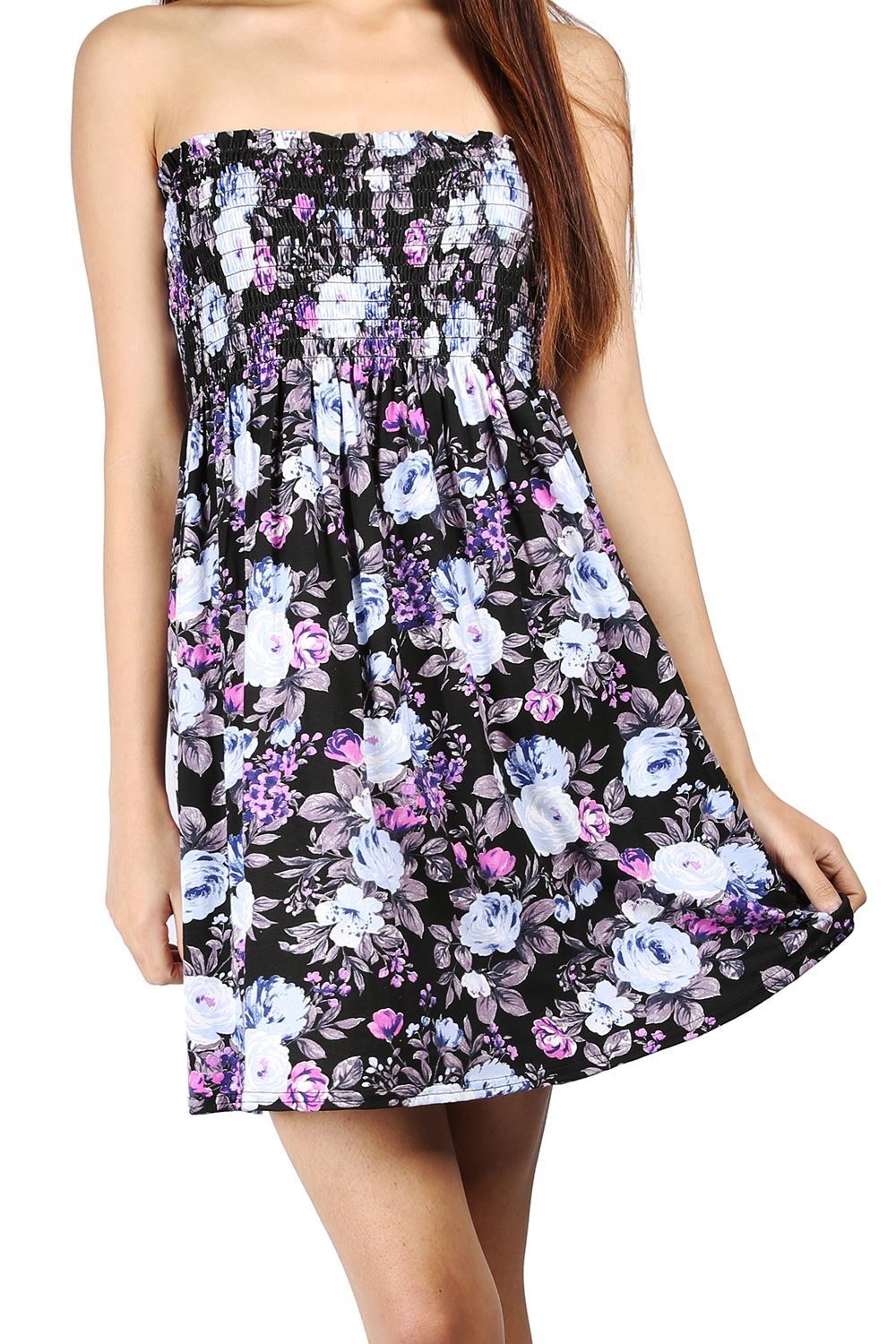 Tube Top Strapless Floral Maxi Dress – Posh At Play |Strapless Dress Top