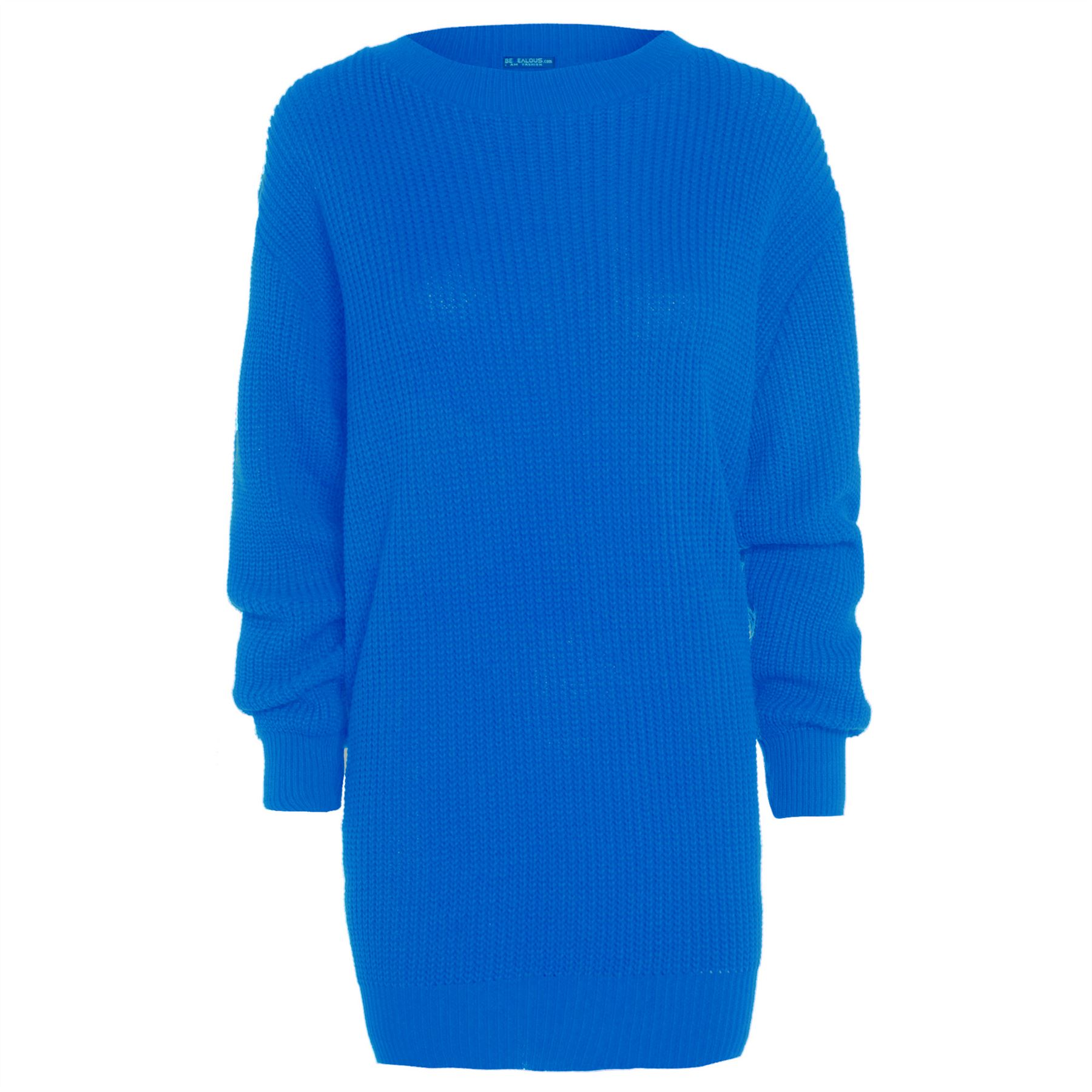 Womens-Oversized-Jumper-Ladies-Dress-Long-Sleeve-Chunky-Knitted-Long-Sweater-Top thumbnail 4