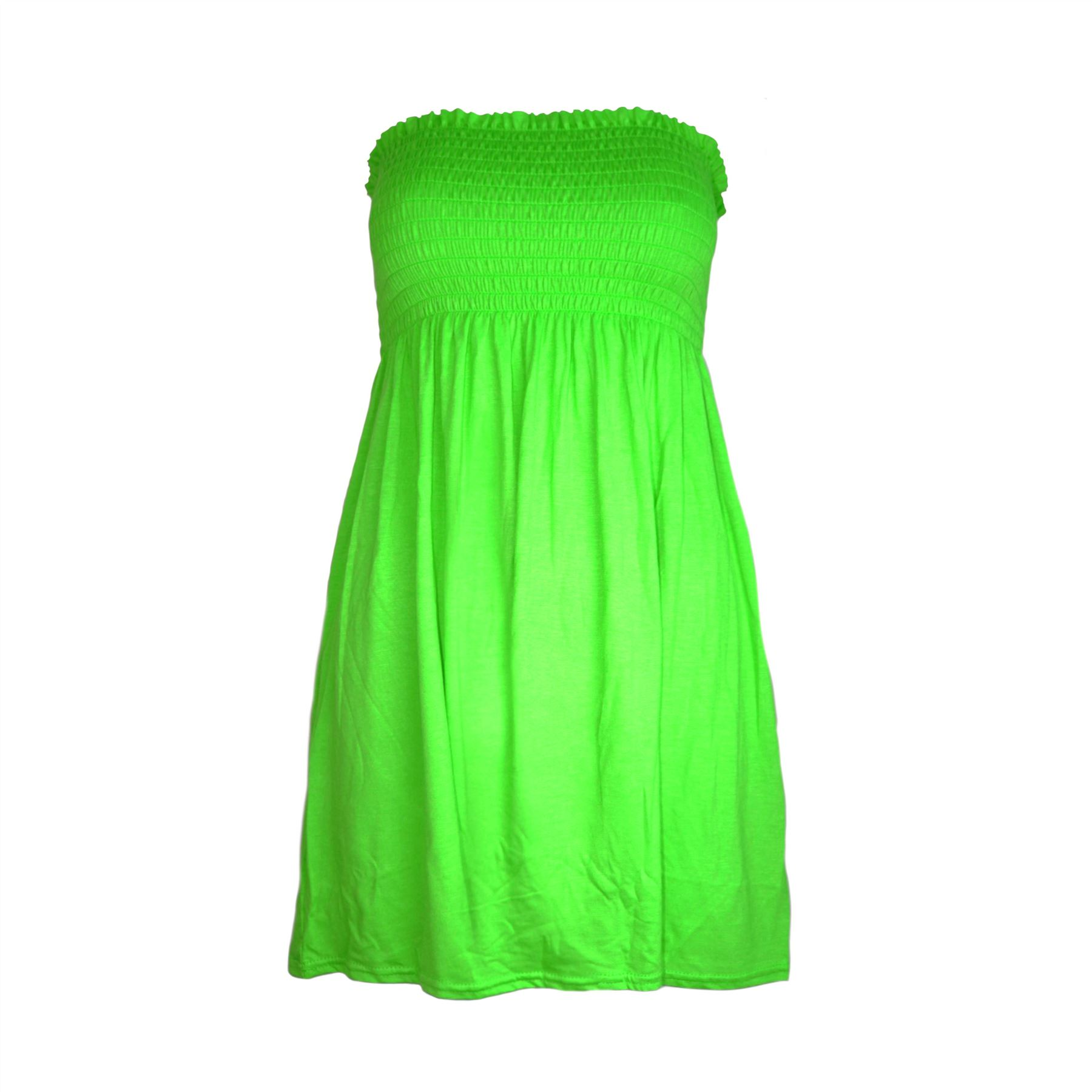 Green Tube Top Dress