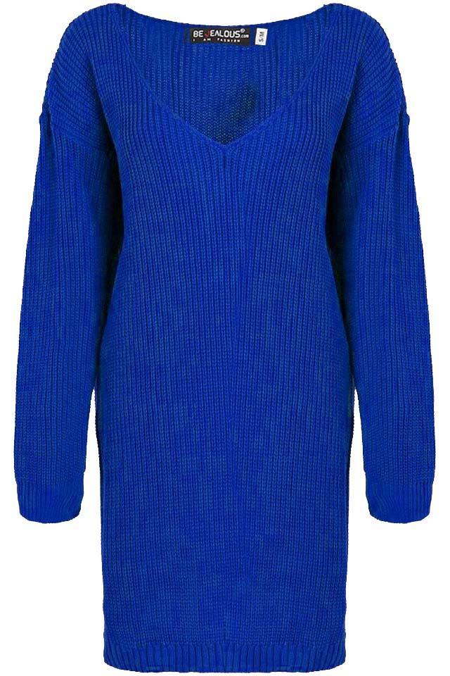 Womens-Oversized-Jumper-Ladies-Dress-Long-Sleeve-Chunky-Knitted-Long-Sweater-Top thumbnail 59