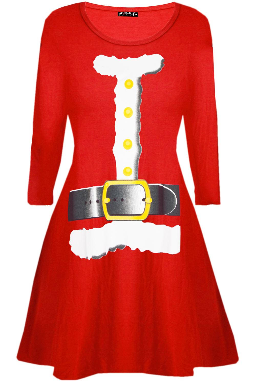 Womens-Ladies-Kids-Girls-Christmas-Xmas-Santa-Reindeer-Flared-Swing-Mini-Dress thumbnail 23