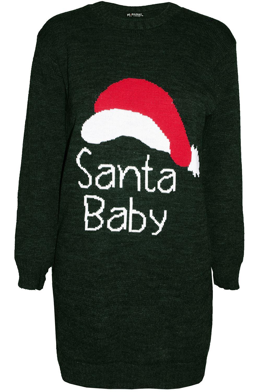 Womens Ladies Xmas Elf Costume Knitted Fancy Santa Helper Christmas  Mini Dress