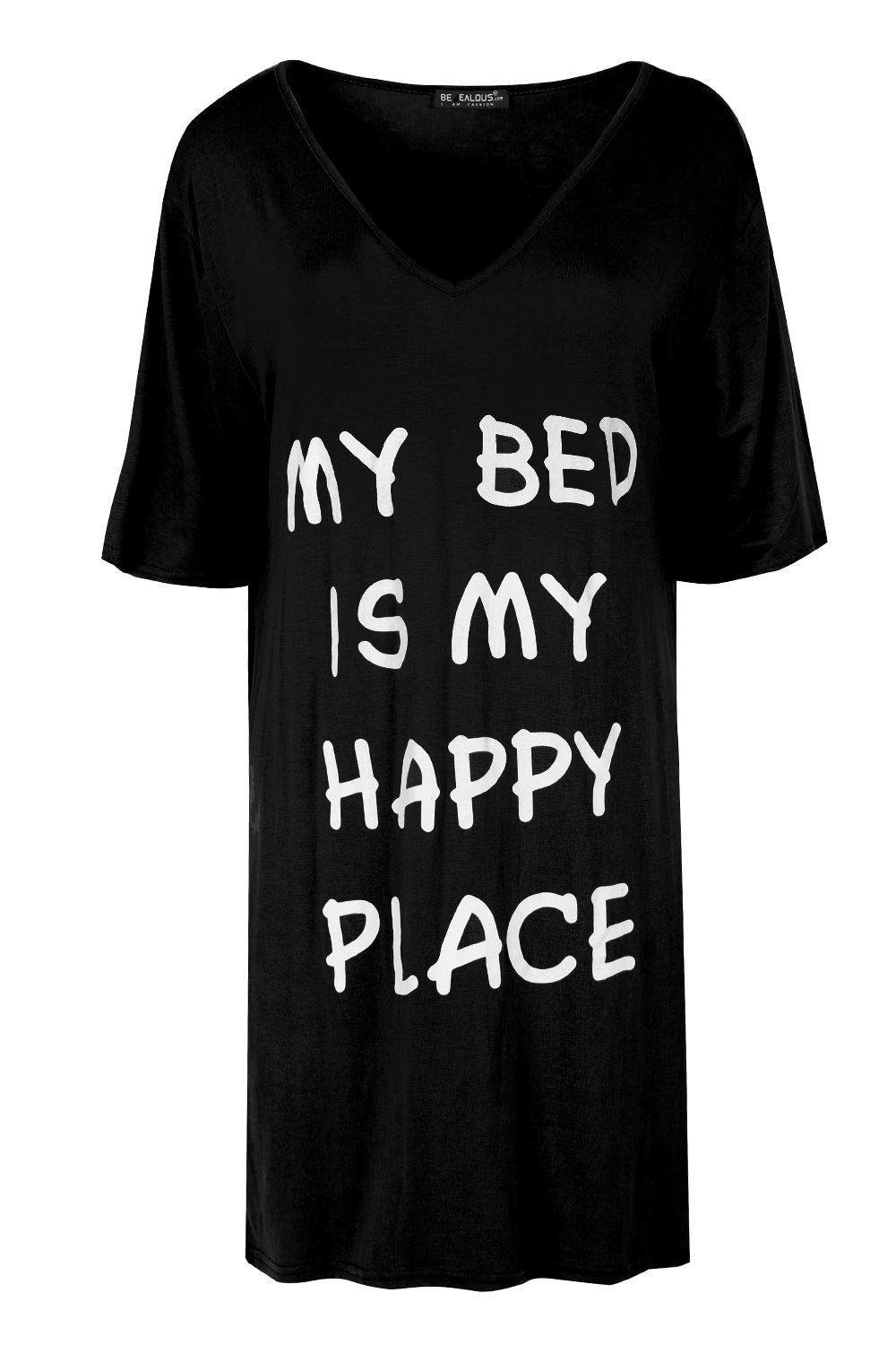 Black t shirt dress ebay - Ladies Womens Plain Oversized My My Bed Is