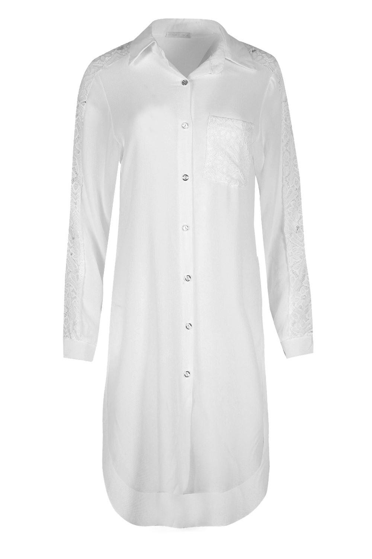 2ff2778b78c Ladies Designer MADE IN ITALY Long Sleeves Shirt Dress Womens Cuffs ...