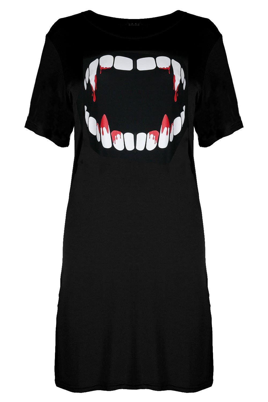 Womens Heart Skeleton Hand Ladies Halloween Lagenlook Baggy Batwing T Shirt Top