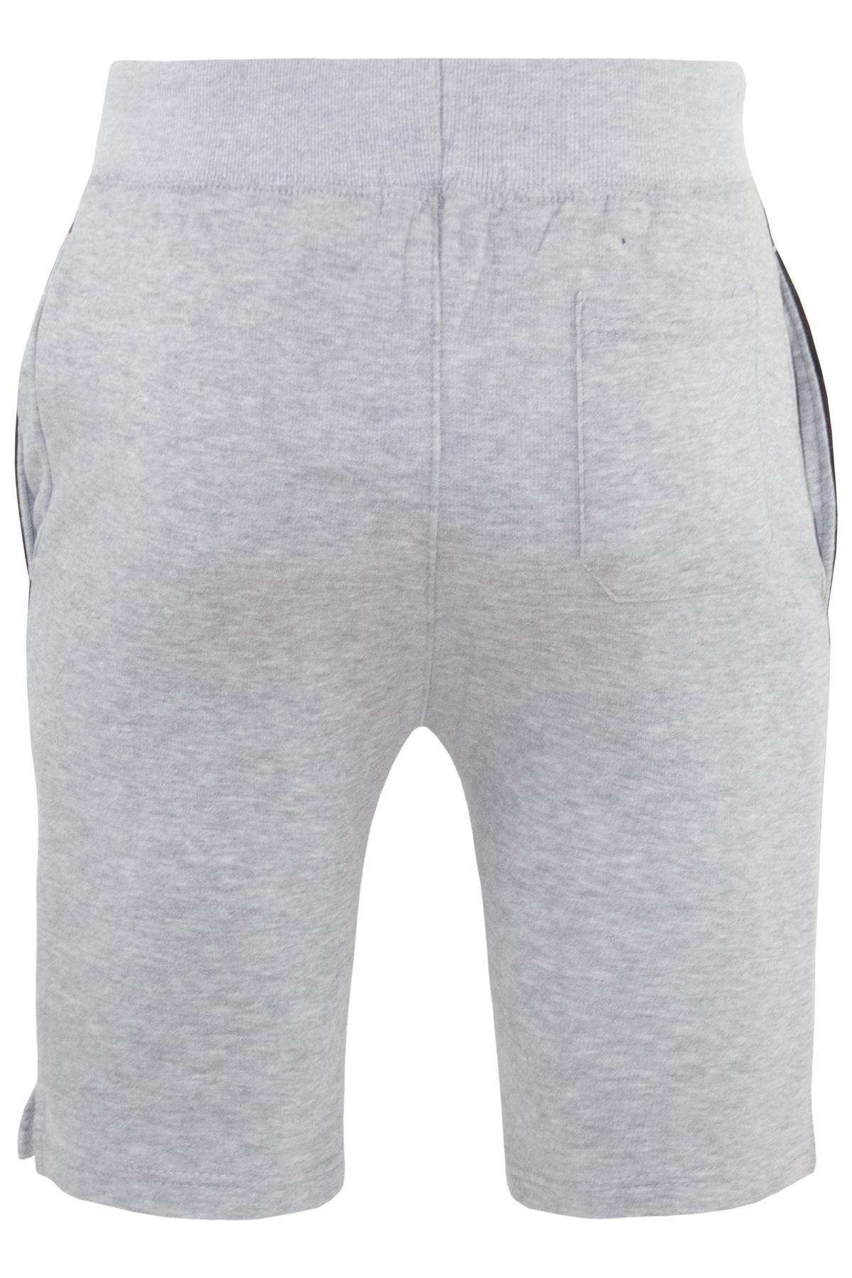 Mens-Contrast-Panel-Running-Summer-Side-Slit-Knee-Length-Fleece-Bottoms-Shorts thumbnail 7