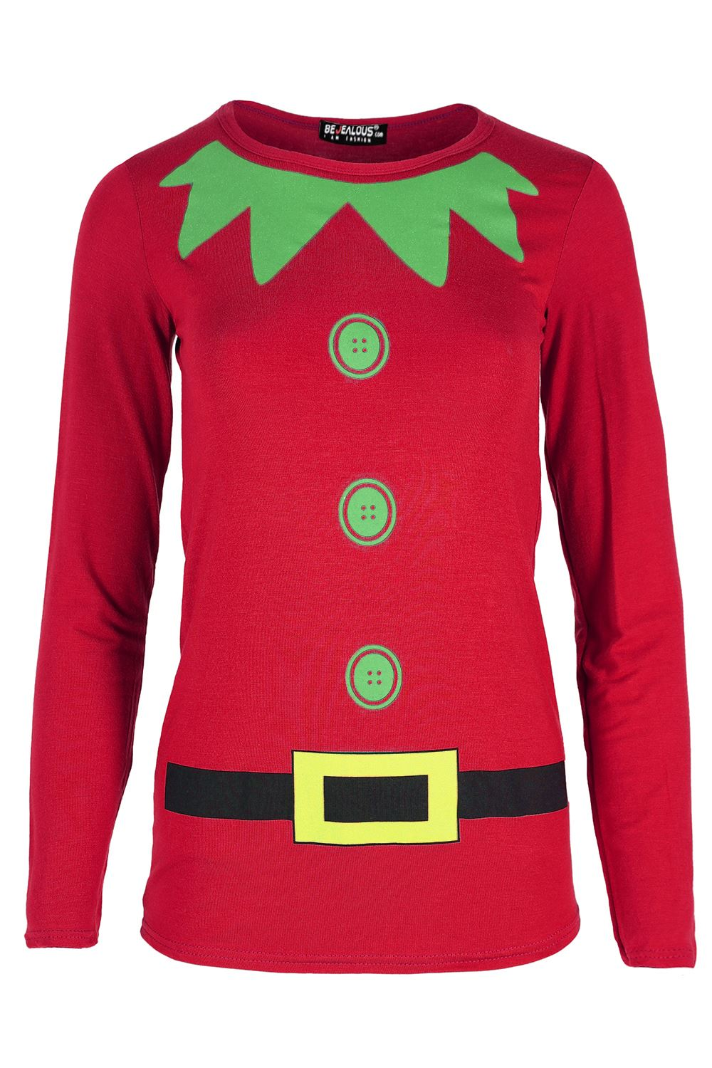 da113976dca Womens Christmas Long Sleeve Gingerbread Climb Gift Ladies Xmas ...