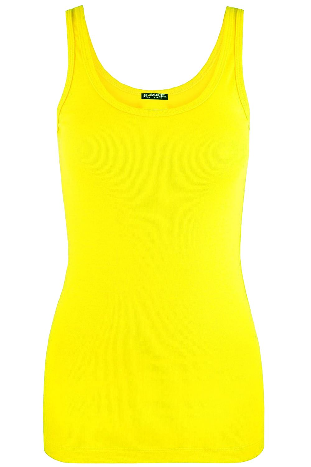 Womens-Ladies-Sleeveless-Tank-Tops-Casual-Cotton-Vests-Plain-T-Shirt-Vest-Top