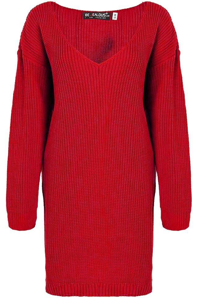 Womens-Oversized-Jumper-Ladies-Dress-Long-Sleeve-Chunky-Knitted-Long-Sweater-Top thumbnail 54