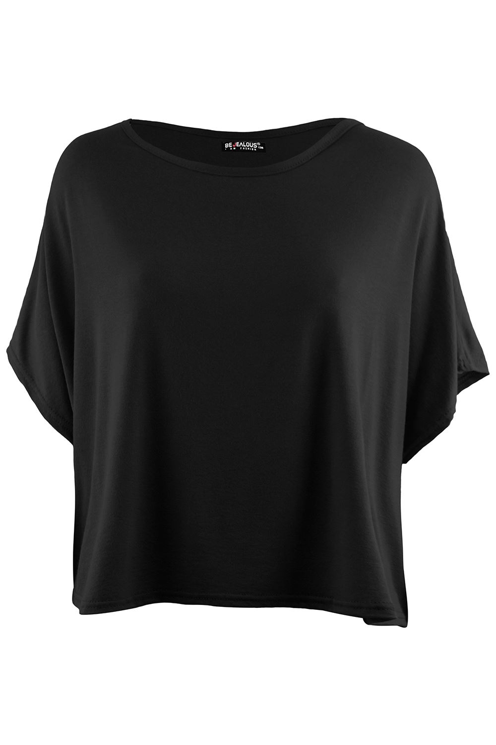 Ladies-Casual-Batwing-Short-Sleeve-Round-Neck-Womens-Oversized-Baggy-T-Shirt-Top