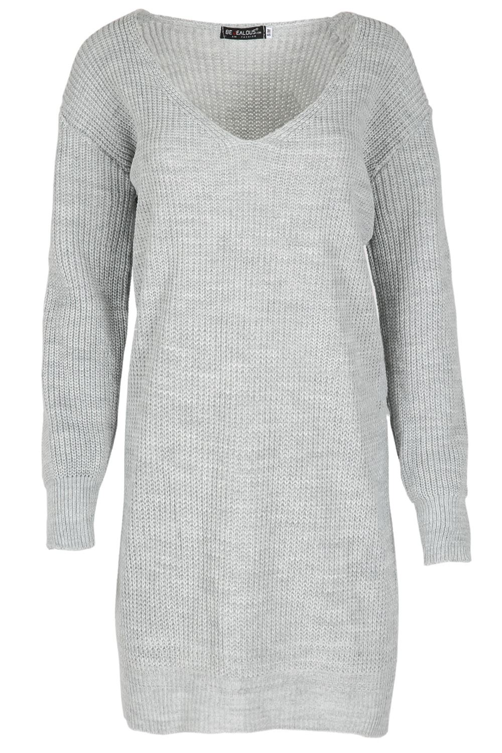 Womens-Oversized-Jumper-Ladies-Dress-Long-Sleeve-Chunky-Knitted-Long-Sweater-Top thumbnail 51