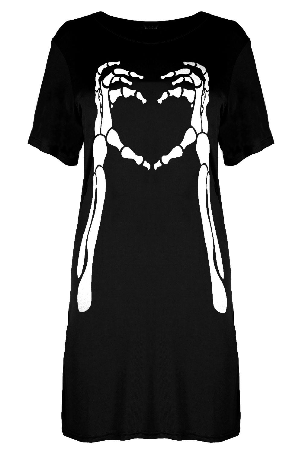 1a945054e1c1 Women Ladies Skull Printed Round Neck Oversized Halloween Loose Fit ...