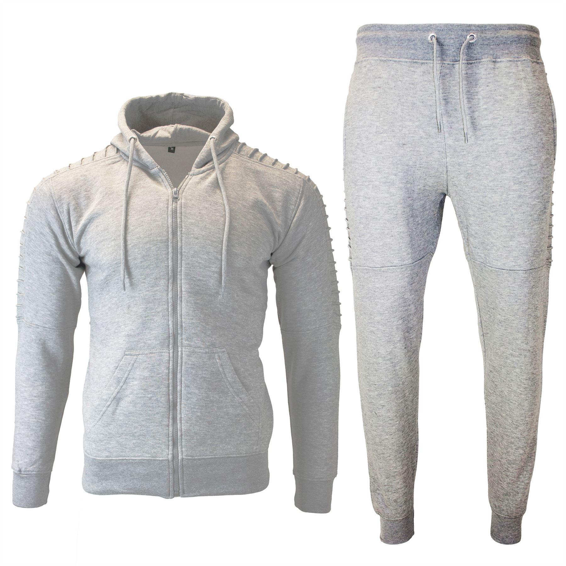 Mens-Fleece-Jogging-Zip-Up-Ribbed-Skinny-Trouser-