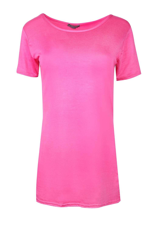 Ladies-Plain-Cap-Sleeve-Round-Neck-Women-039-s-Side-Split-Slit-High-Low-T-Shirt-Top