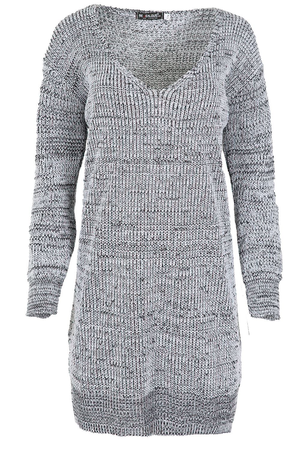 Womens-Oversized-Jumper-Ladies-Dress-Long-Sleeve-Chunky-Knitted-Long-Sweater-Top thumbnail 57
