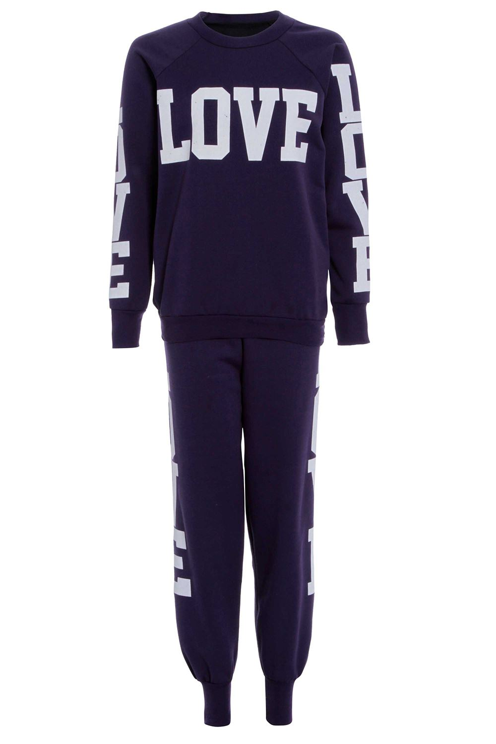 Damen Trainingsanzug Sweatshirt Top Love New York 98 Brooklyn 76 Joggen Hosen