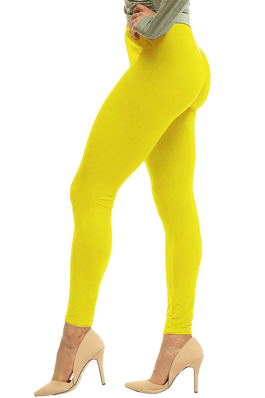 Sunny Ladies Legging Ladies Plain Stretchy Viscose Leggings Plus Size 8-14 Leggings Fitness, Running & Yoga