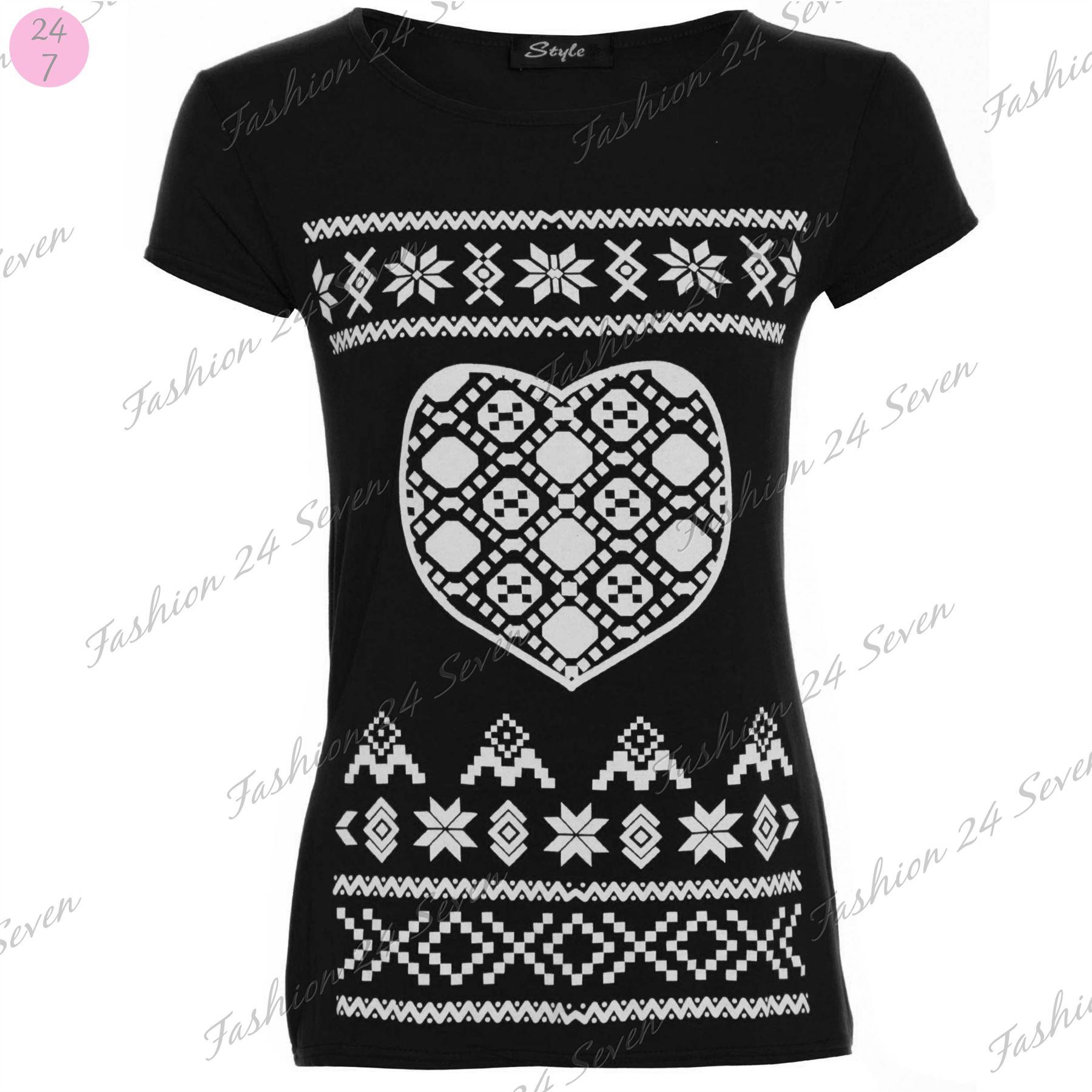 Black xmas t shirt - Womens Ladies Christmas Xmas Santa Snowman Reindeer Batman