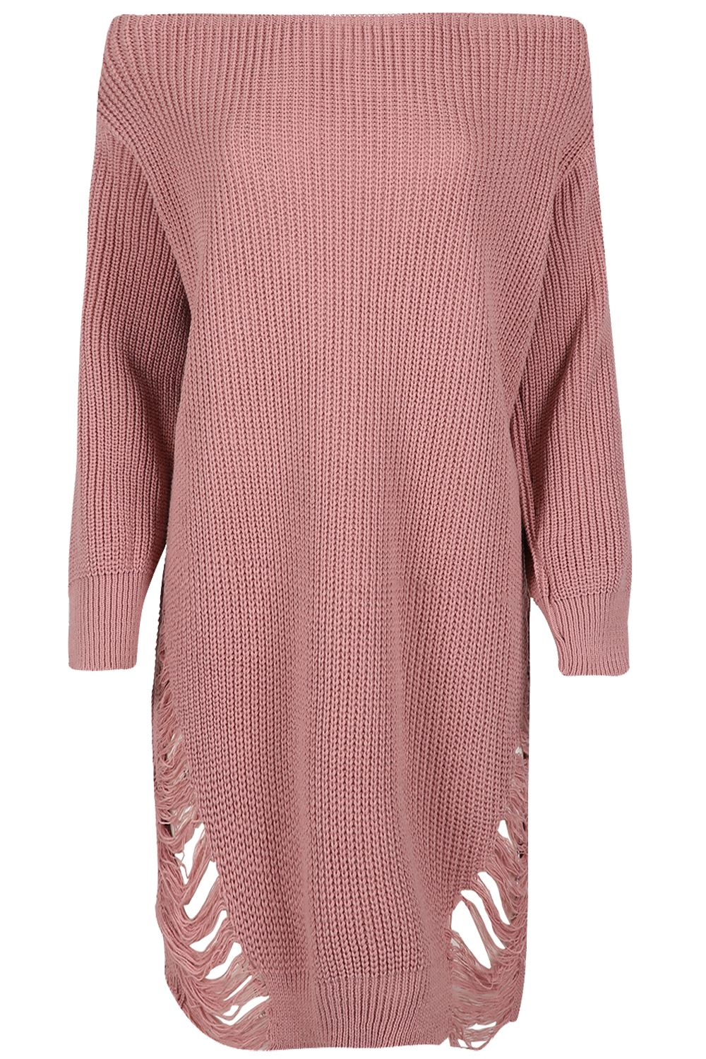 Womens-Oversized-Jumper-Ladies-Dress-Long-Sleeve-Chunky-Knitted-Long-Sweater-Top thumbnail 31