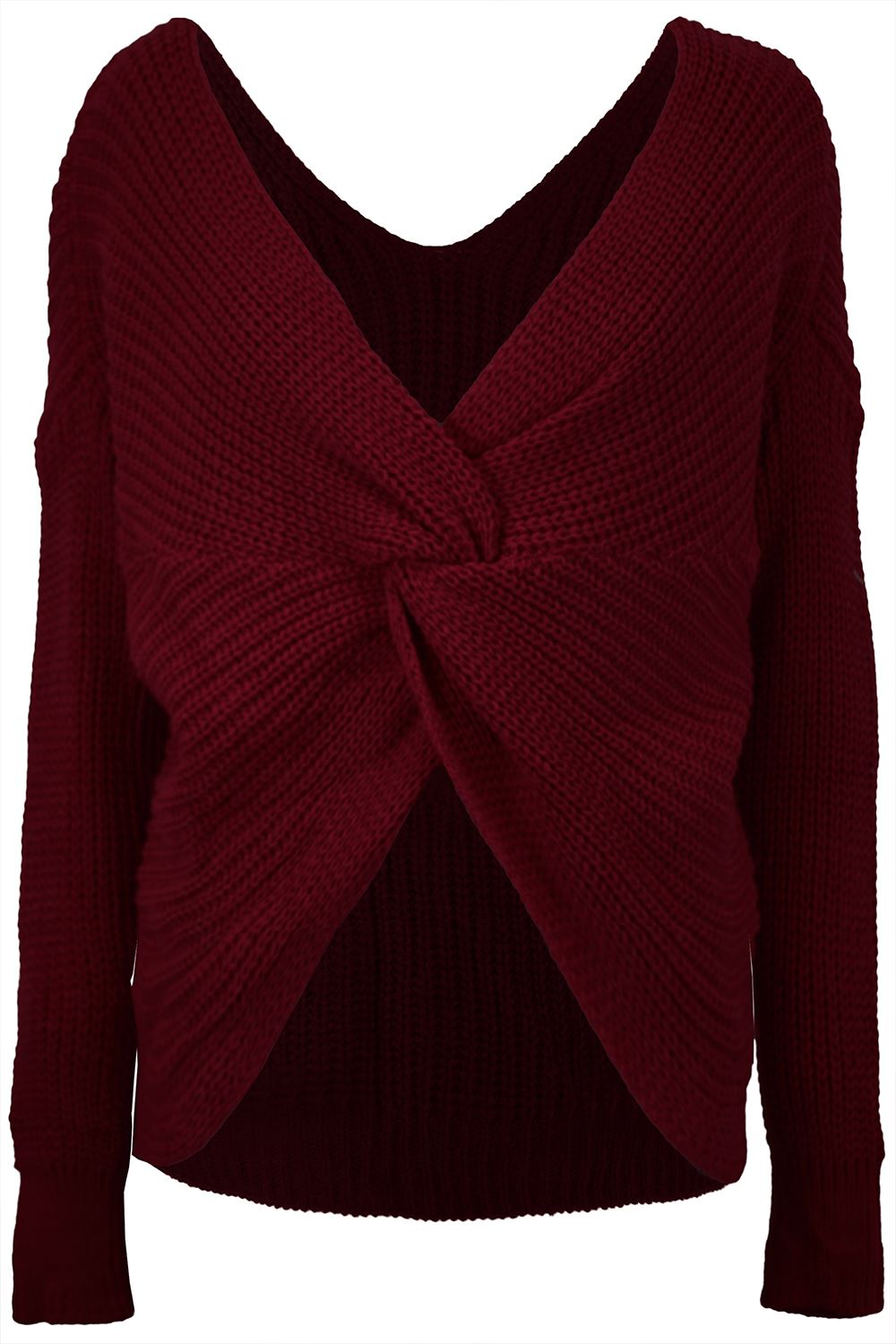 Womens-Ladies-Twisted-Knot-Front-Slouch-Fit-Bubble-Sleeve-Baggy-Oversized-Jumper thumbnail 15