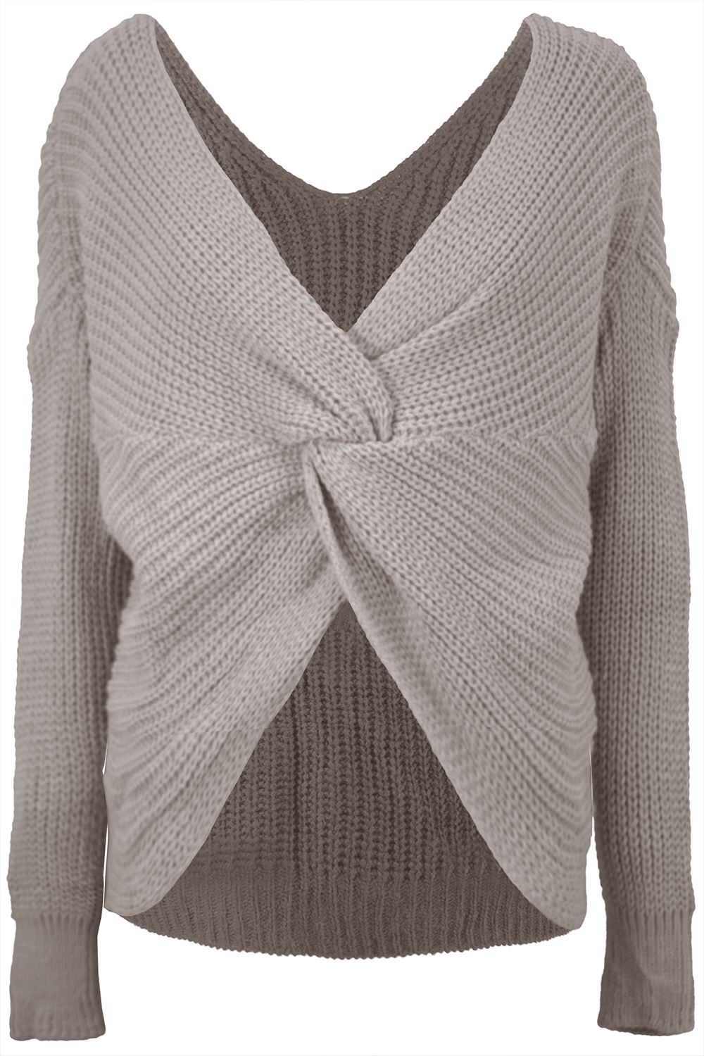 Womens-Ladies-Twisted-Knot-Front-Slouch-Fit-Bubble-Sleeve-Baggy-Oversized-Jumper thumbnail 16